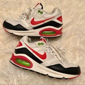 Nike Air Max 1 Sneakers (White/Black/Pink/Green)